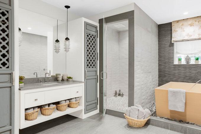 Gym bathroom interior design wellesley ma melissa gulley