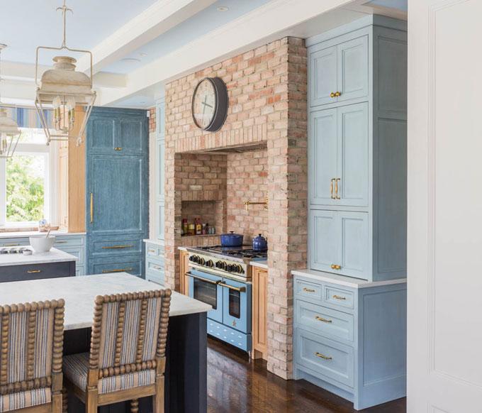 Kitchen Island Stove Finishes Interior Design Melissa Gulley