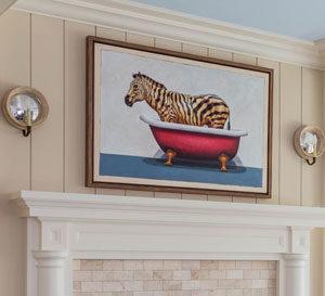 Family Room Artwork Interior Design Wellesley