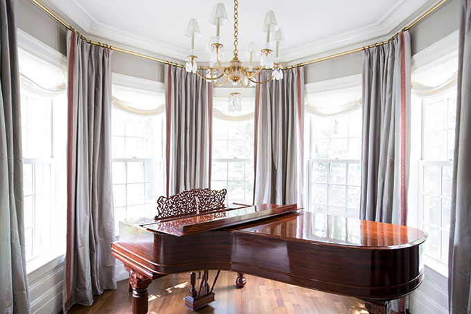 Living Room grand piano wellesley
