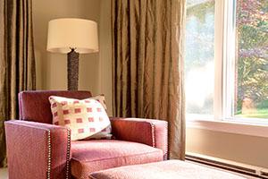 Living room Interior design Weston MA